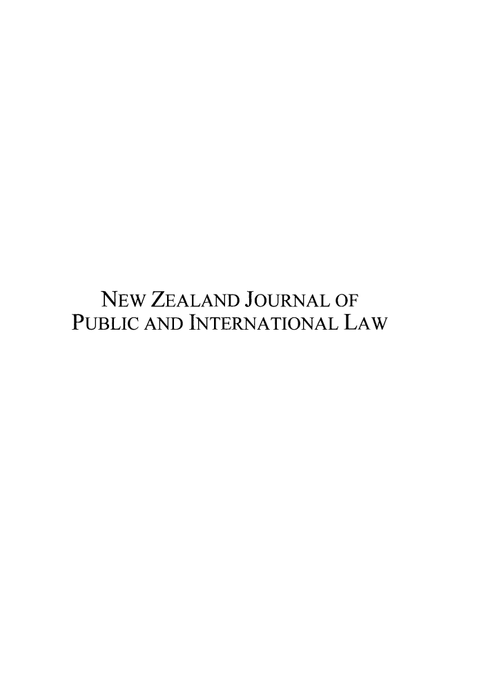 handle is hein.journals/nzjpubinl9 and id is 1 raw text is: NEW ZEALAND JOURNAL OF