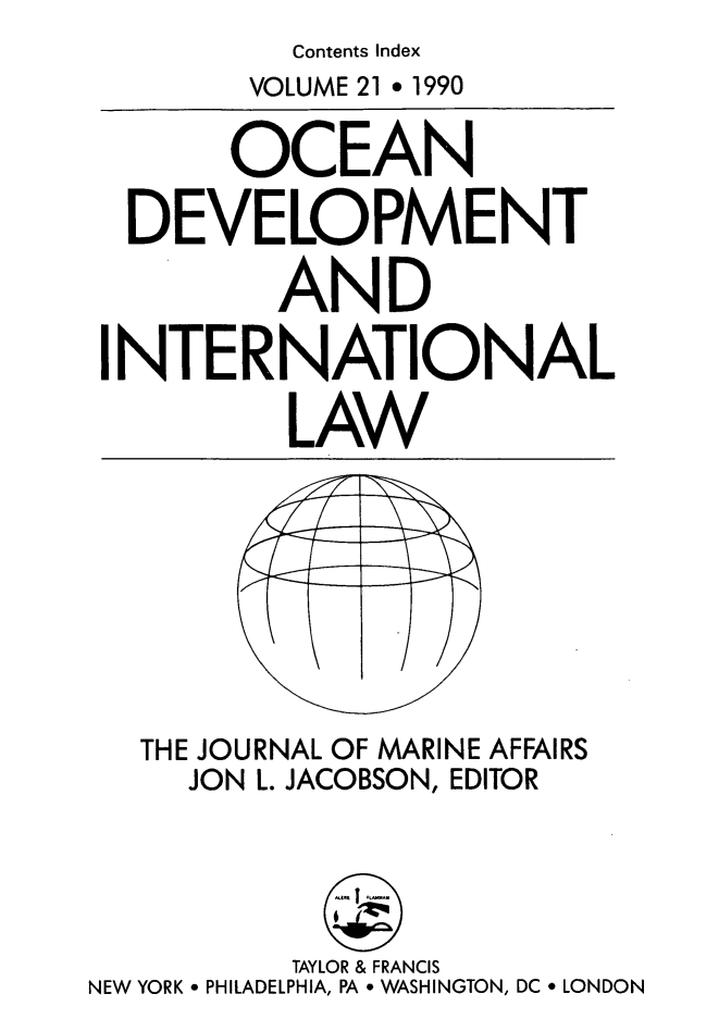 handle is hein.journals/ocdev21 and id is 1 raw text is: Contents Index