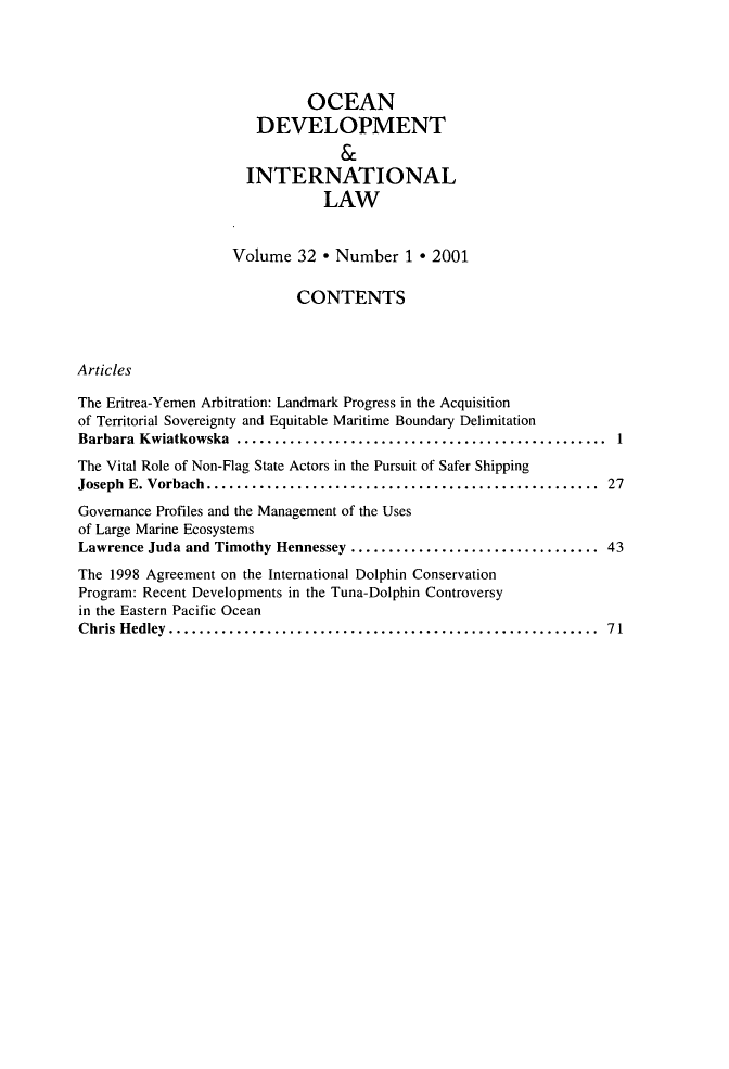 handle is hein.journals/ocdev32 and id is 1 raw text is: OCEAN