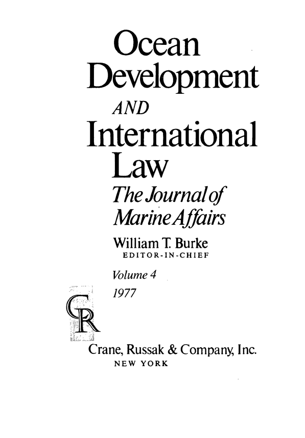 handle is hein.journals/ocdev4 and id is 1 raw text is: Ocean