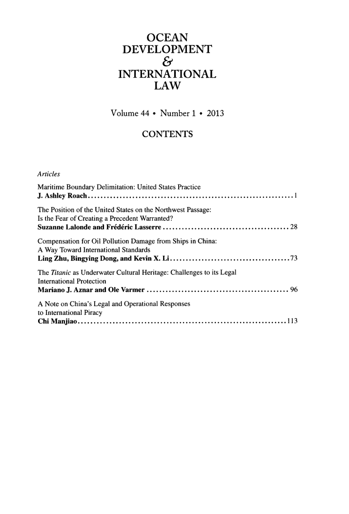 handle is hein.journals/ocdev44 and id is 1 raw text is: OCEAN