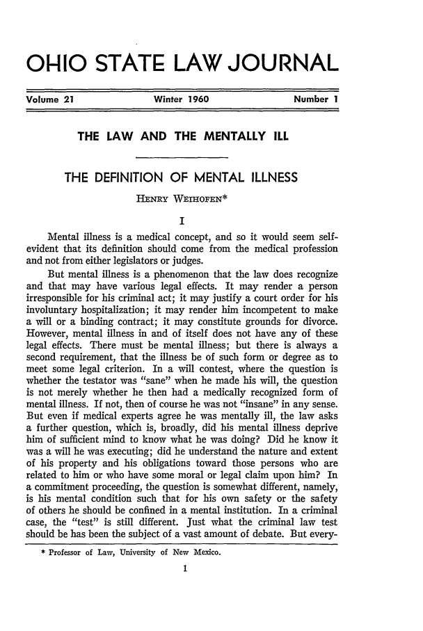 handle is hein.journals/ohslj21 and id is 11 raw text is: 01-110 STATE LAW JOURNAL
