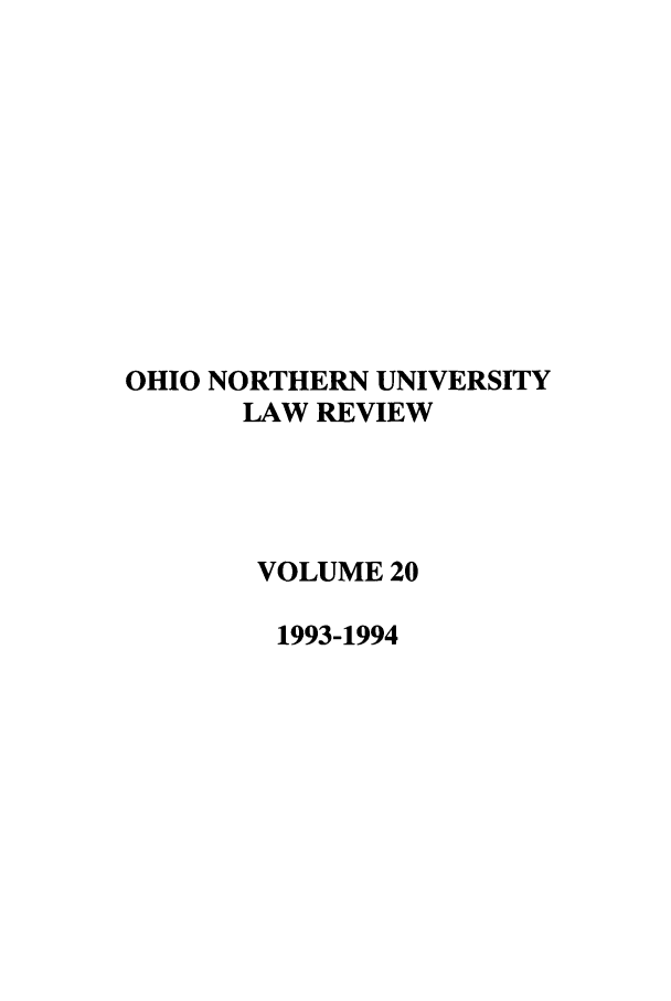 handle is hein.journals/onulr20 and id is 1 raw text is: OHIO NORTHERN UNIVERSITY