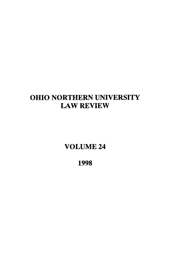 handle is hein.journals/onulr24 and id is 1 raw text is: OHIO NORTHERN UNIVERSITY
