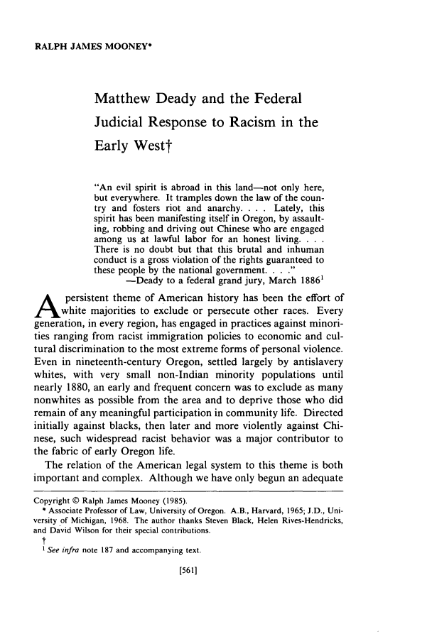 handle is hein.journals/orglr63 and id is 571 raw text is: RALPH JAMES MOONEY*