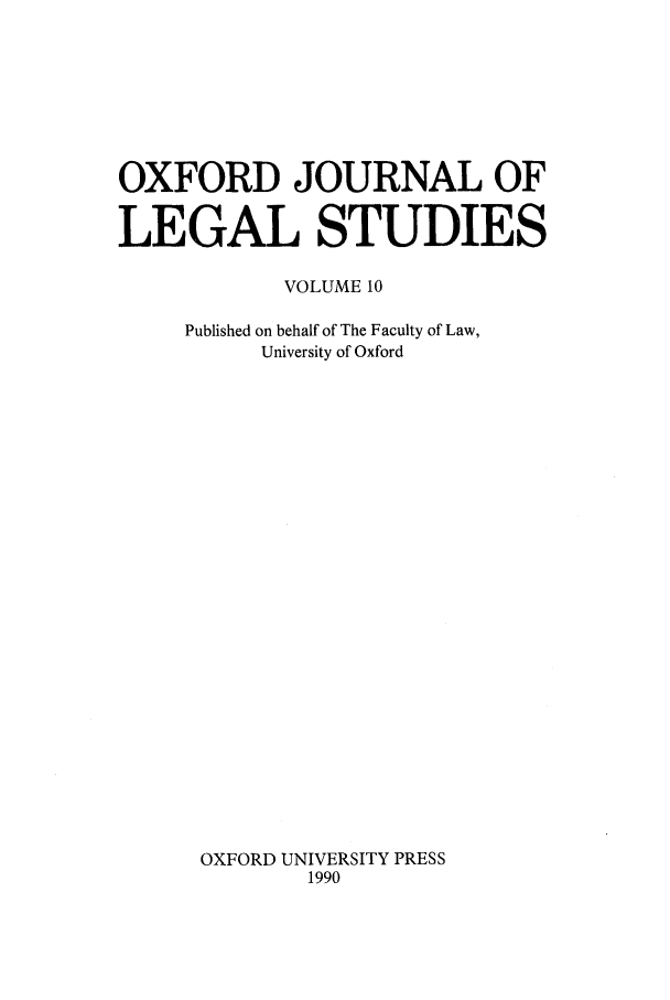 handle is hein.journals/oxfjls10 and id is 1 raw text is: OXFORD JOURNAL OF