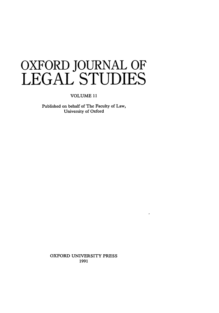 handle is hein.journals/oxfjls11 and id is 1 raw text is: OXFORD JOURNAL OF
