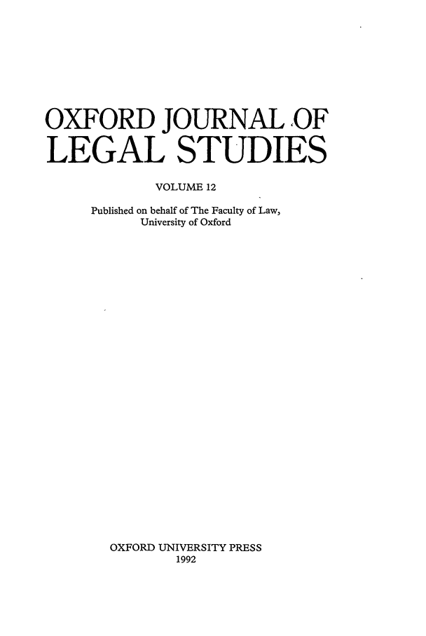 handle is hein.journals/oxfjls12 and id is 1 raw text is: OXFORD JOURNAL ,OF