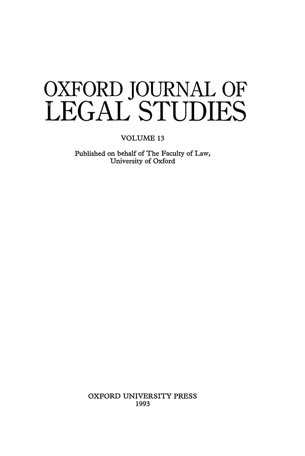 handle is hein.journals/oxfjls13 and id is 1 raw text is: OXFORD JOURNAL OF