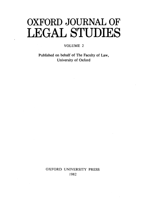 handle is hein.journals/oxfjls2 and id is 1 raw text is: OXFORD JOURNAL OF