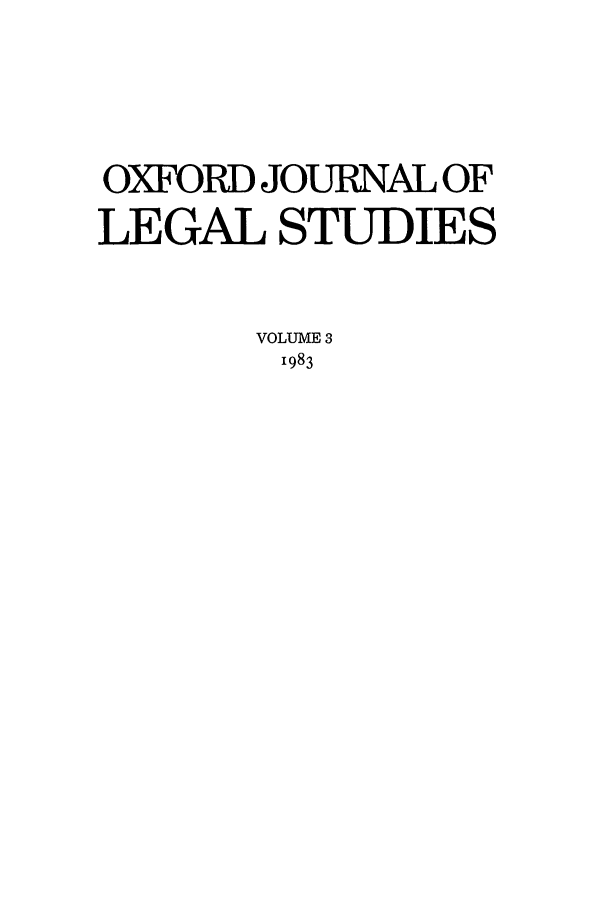 handle is hein.journals/oxfjls3 and id is 1 raw text is: OXFORD JOURNAL OF