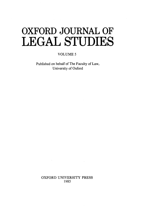 handle is hein.journals/oxfjls5 and id is 1 raw text is: OXFORD JOURNAL OF