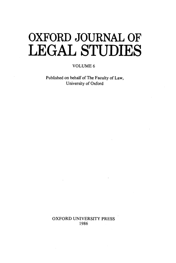 handle is hein.journals/oxfjls6 and id is 1 raw text is: OXFORD JOURNAL OF