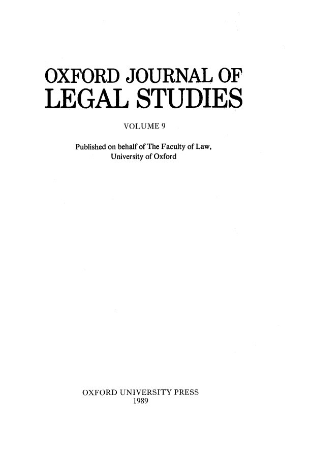 handle is hein.journals/oxfjls9 and id is 1 raw text is: OXFORD JOURNAL OF