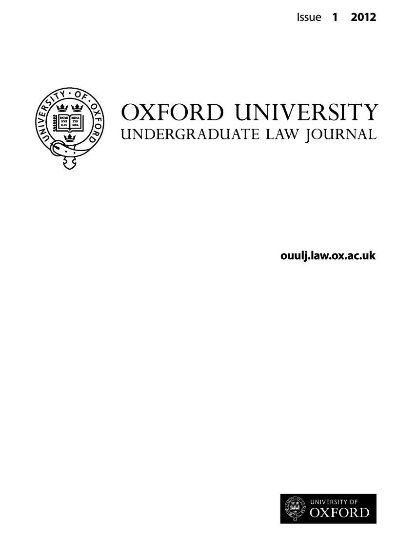 handle is hein.journals/oxfuniv1 and id is 1 raw text is: Issue 1 2012