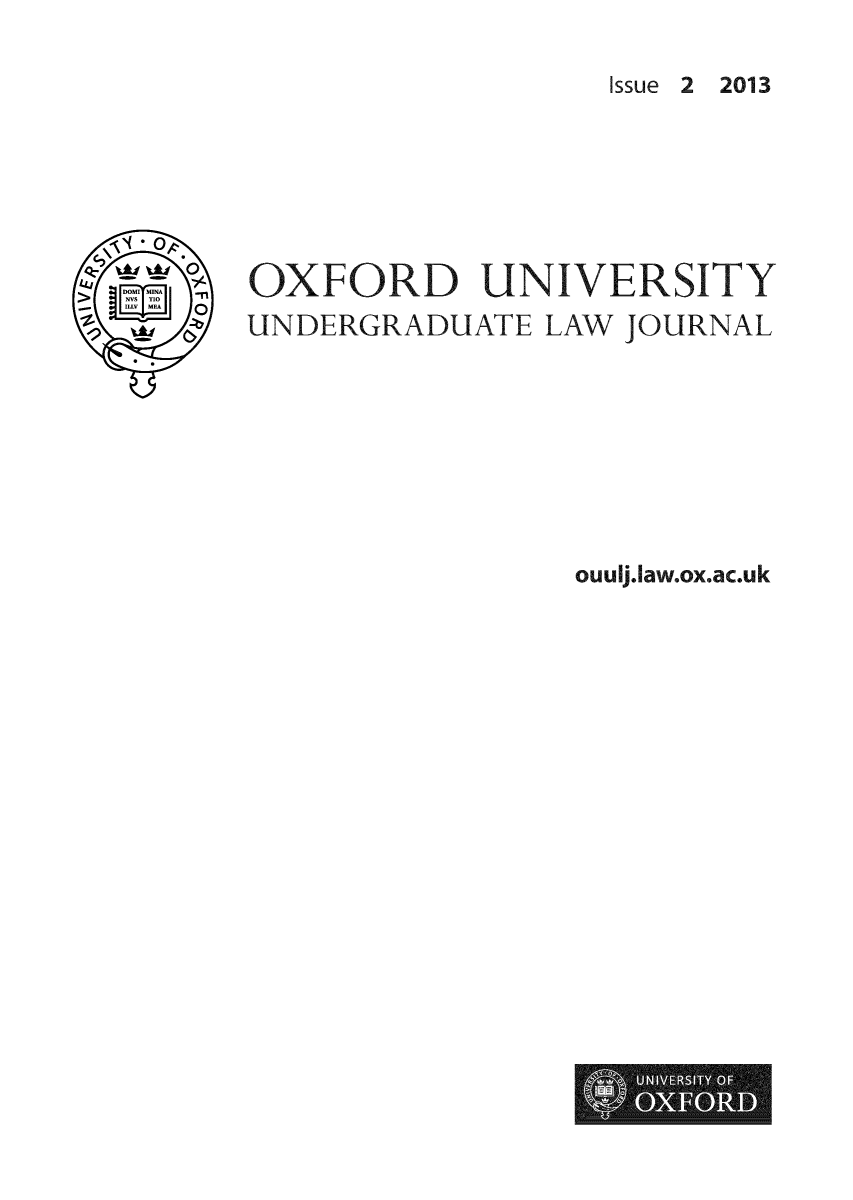 handle is hein.journals/oxfuniv2 and id is 1 raw text is: Issue 2 2013
