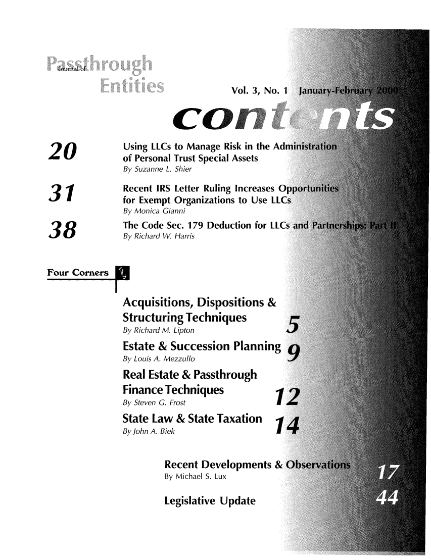 handle is hein.journals/passtent3 and id is 1 raw text is: Journal of