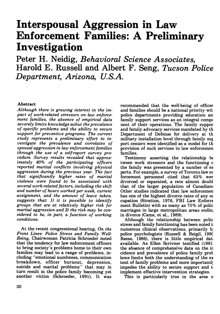 handle is hein.journals/polic15 and id is 40 raw text is: Interspousal Aggression in Law