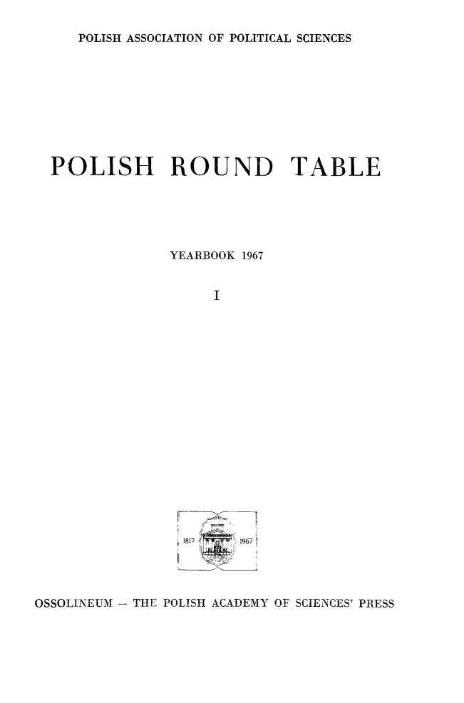 handle is hein.journals/ppsy1 and id is 1 raw text is: 