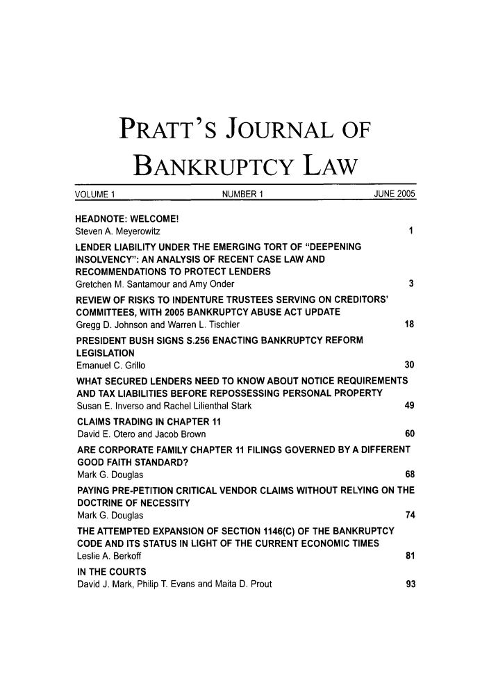 handle is hein.journals/prattjb1 and id is 1 raw text is: PRATT'S JOURNAL OF