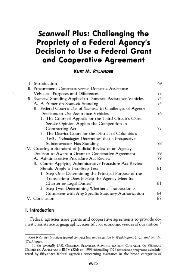 handle is hein.journals/pubclj28 and id is 79 raw text is: Scanwell Plus: Challenging the