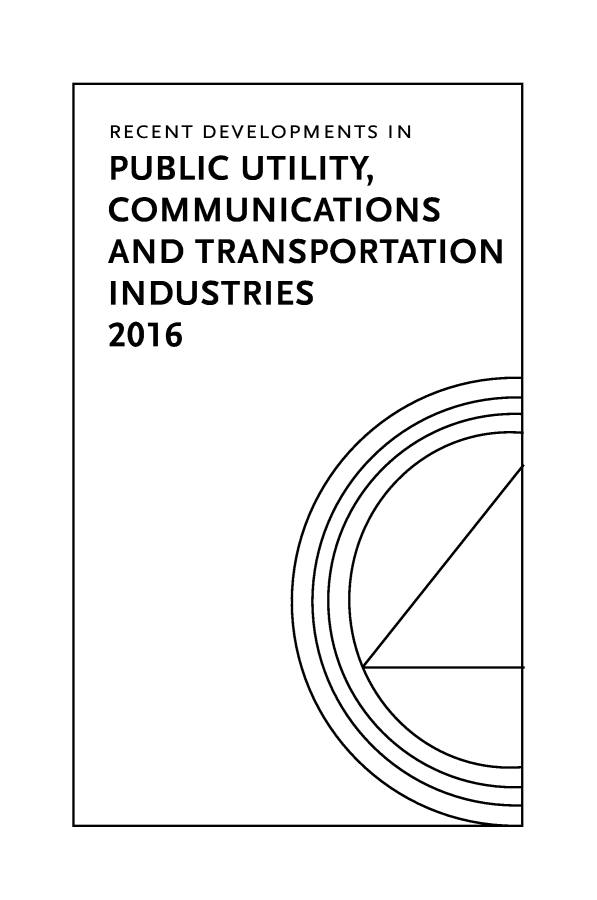 handle is hein.journals/pubutili2016 and id is 1 raw text is: 