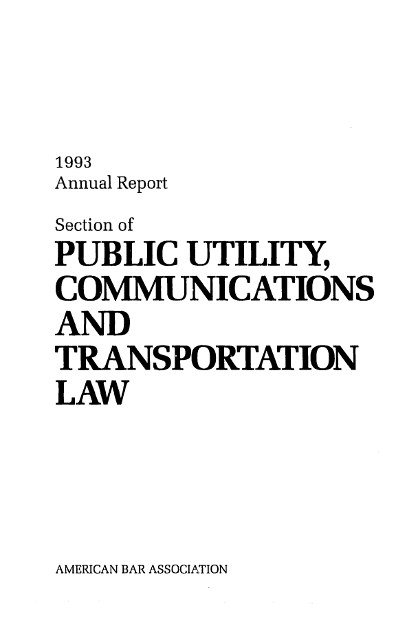 handle is hein.journals/pubutili3 and id is 1 raw text is: 1993