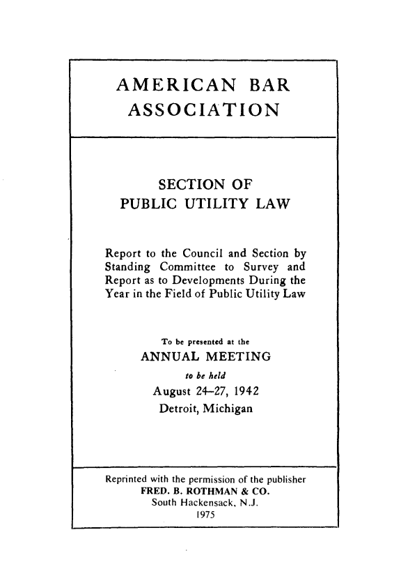 handle is hein.journals/pubutili30 and id is 1 raw text is: AMERICAN BAR