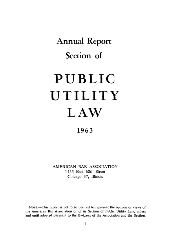 handle is hein.journals/pubutili51 and id is 1 raw text is: Annual Report
