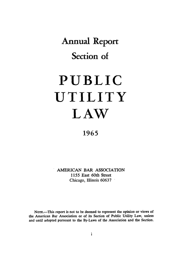 handle is hein.journals/pubutili53 and id is 1 raw text is: Annual Report