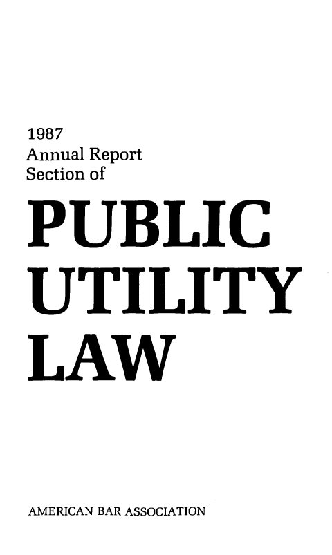 handle is hein.journals/pubutili75 and id is 1 raw text is: 1987