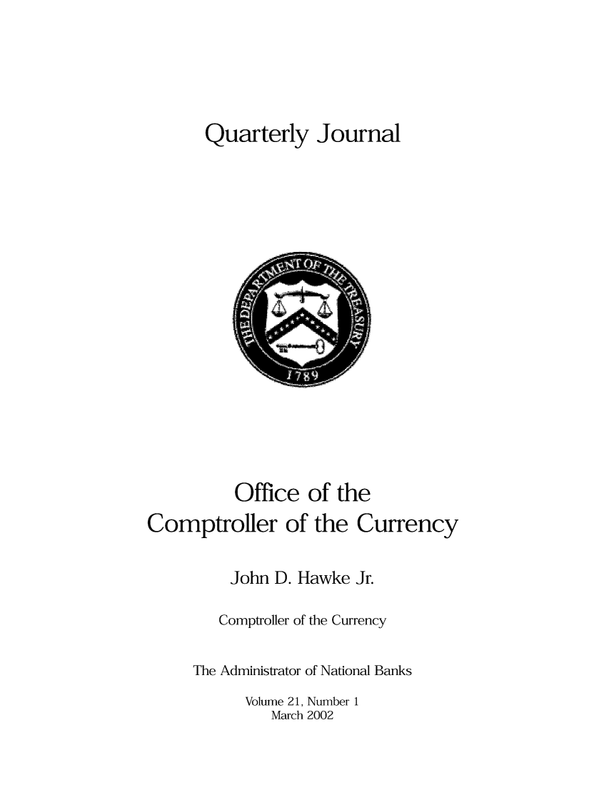 handle is hein.journals/qujou21 and id is 1 raw text is: Quarterly Journal