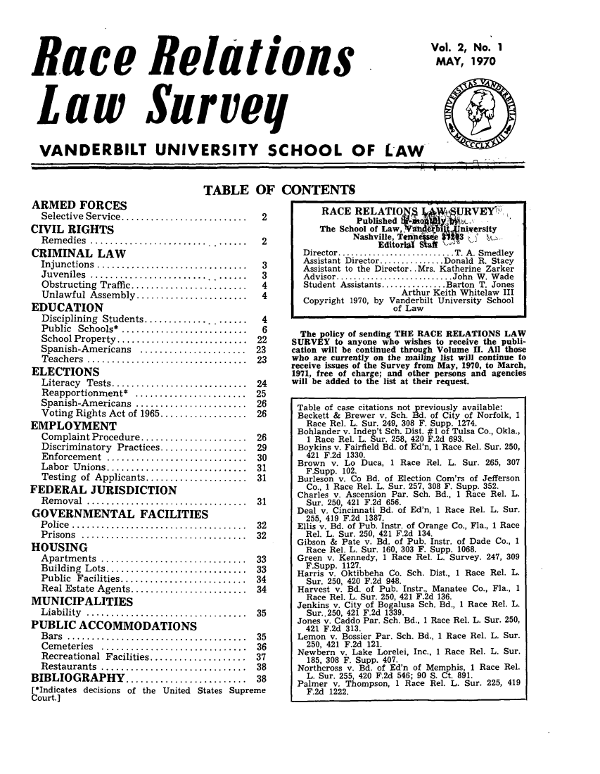 handle is hein.journals/rerelasur2 and id is 1 raw text is: Race Relations