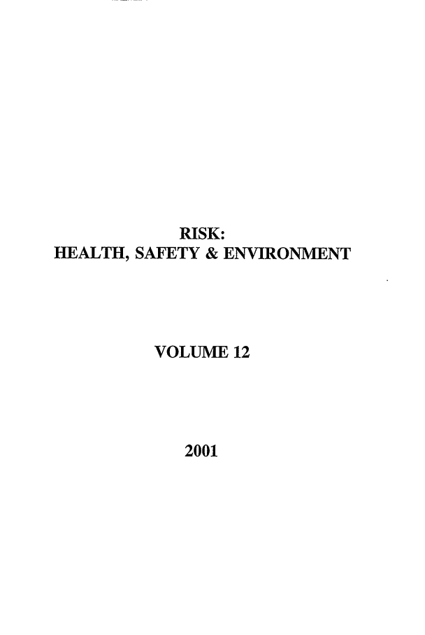 handle is hein.journals/risk12 and id is 1 raw text is: RISK: