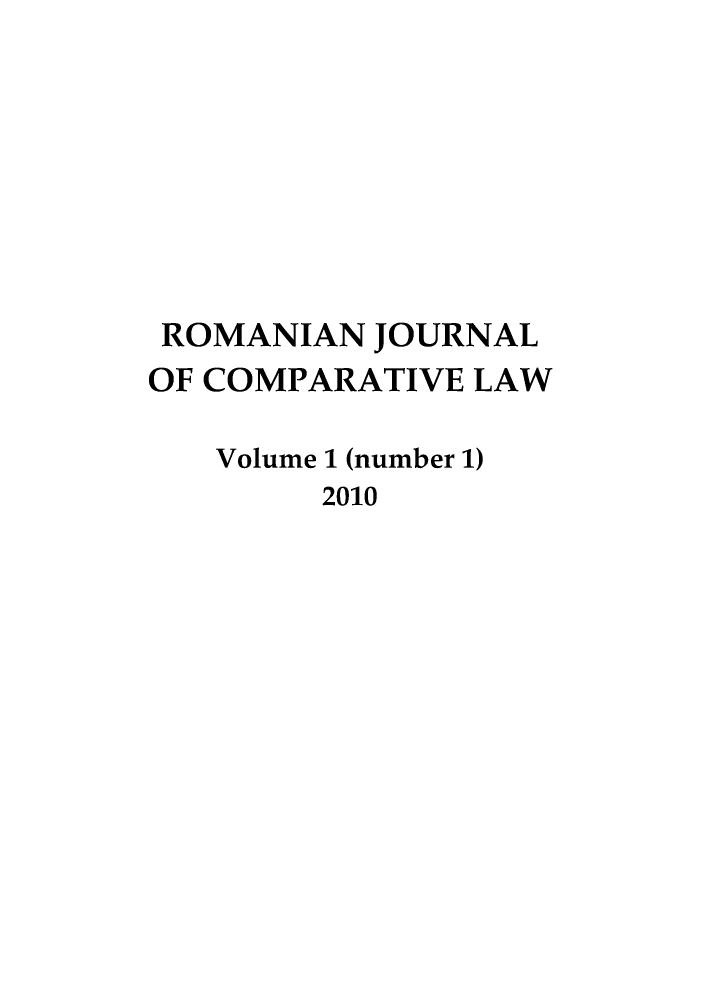 handle is hein.journals/romajcl1 and id is 1 raw text is: ROMANIAN JOURNAL