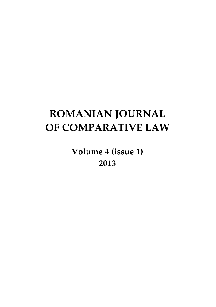 handle is hein.journals/romajcl4 and id is 1 raw text is: ROMANIAN JOURNAL