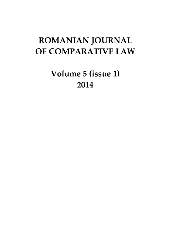 handle is hein.journals/romajcl5 and id is 1 raw text is: 