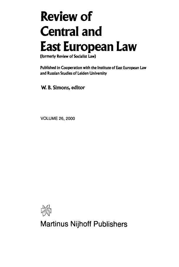 handle is hein.journals/rsl26 and id is 1 raw text is: Review of
