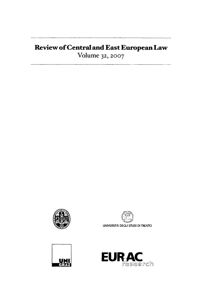handle is hein.journals/rsl32 and id is 1 raw text is: Review of Central and East European Law