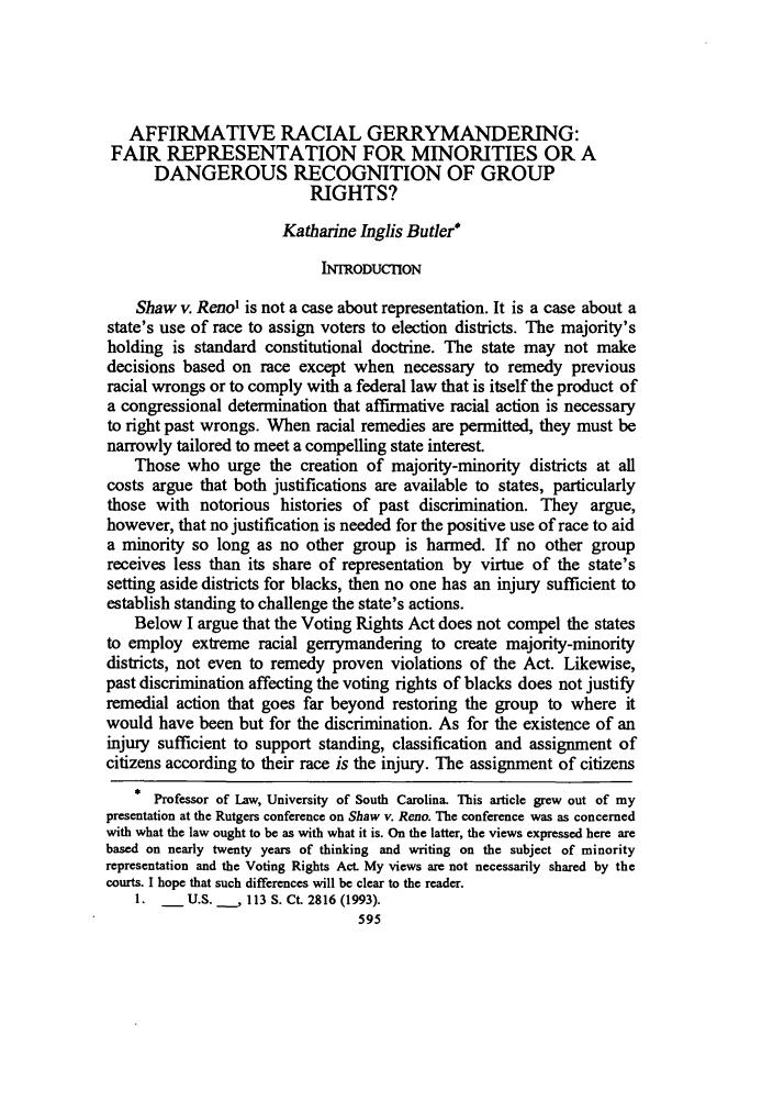 Right of minorities essay