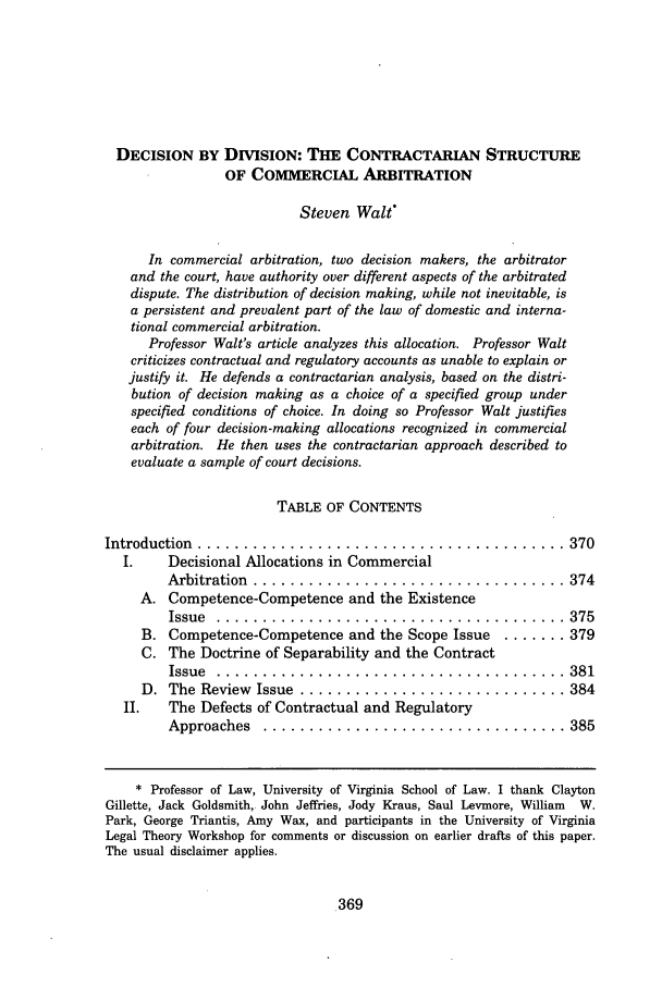 handle is hein.journals/rutlr51 and id is 381 raw text is: DECISION BY DIVISION: THE CONTRACTARIAN STRUCTURE