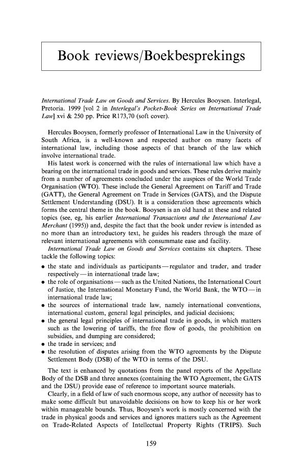 Book Reviews/Boekresensie 13 South African Mercantile Law