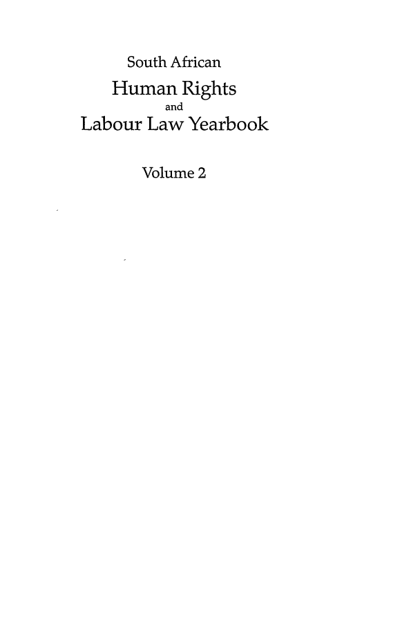 handle is hein.journals/sary2 and id is 1 raw text is: South African