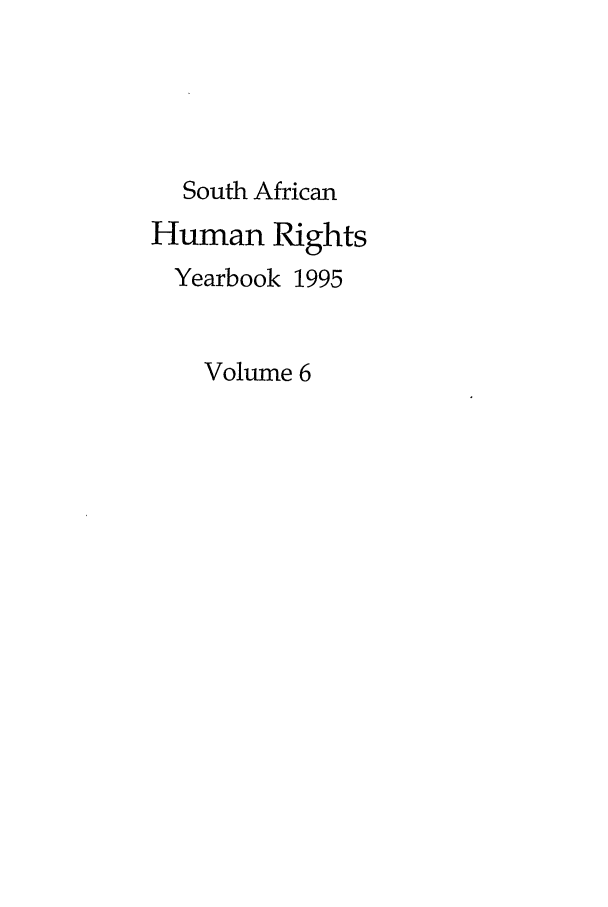 handle is hein.journals/sary6 and id is 1 raw text is: South African