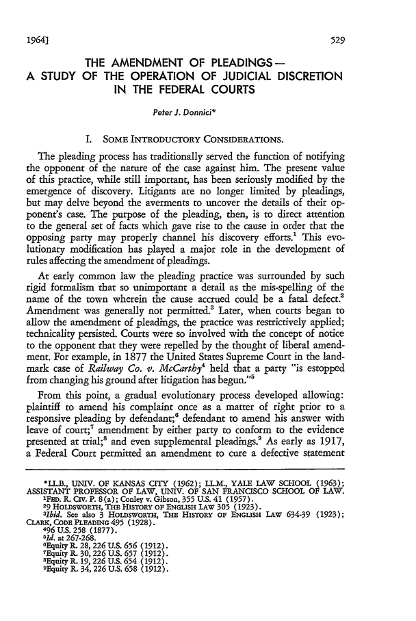 The Amendment of Pleadings-A Study of the Operation of ...