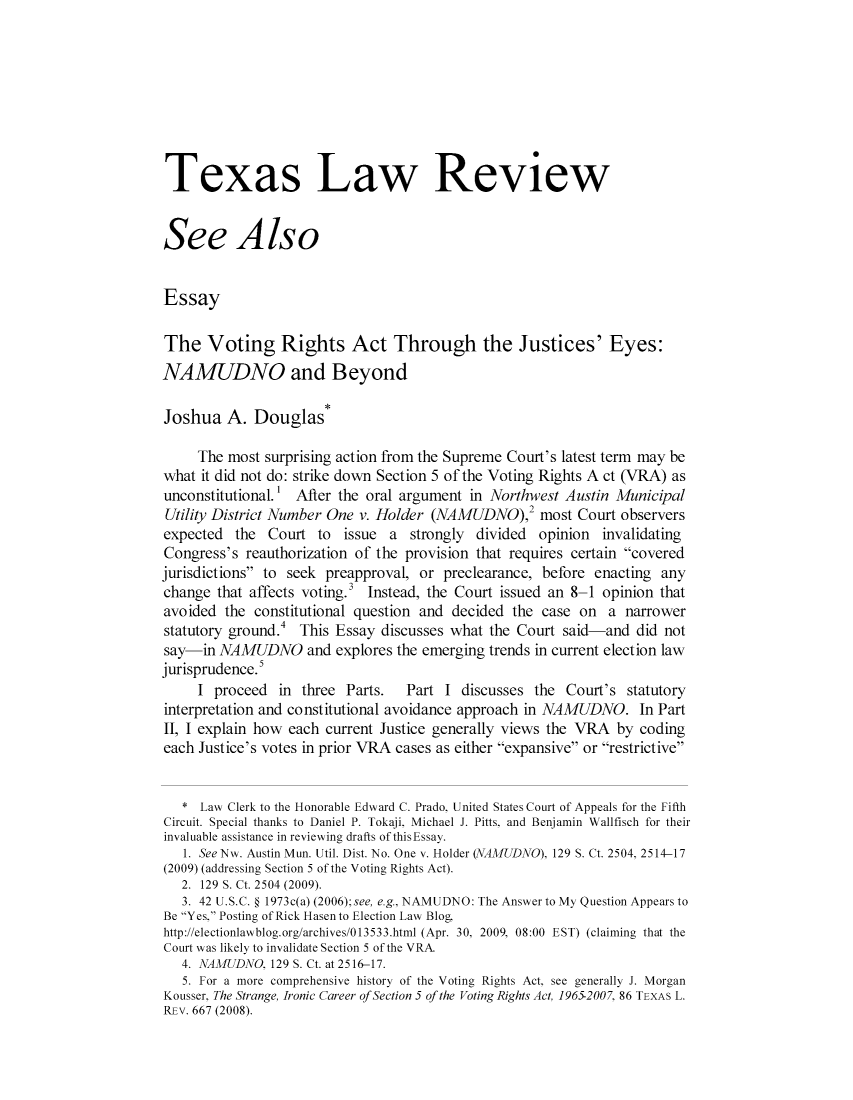 handle is hein.journals/seealtex88 and id is 1 raw text is: Texas Law Review