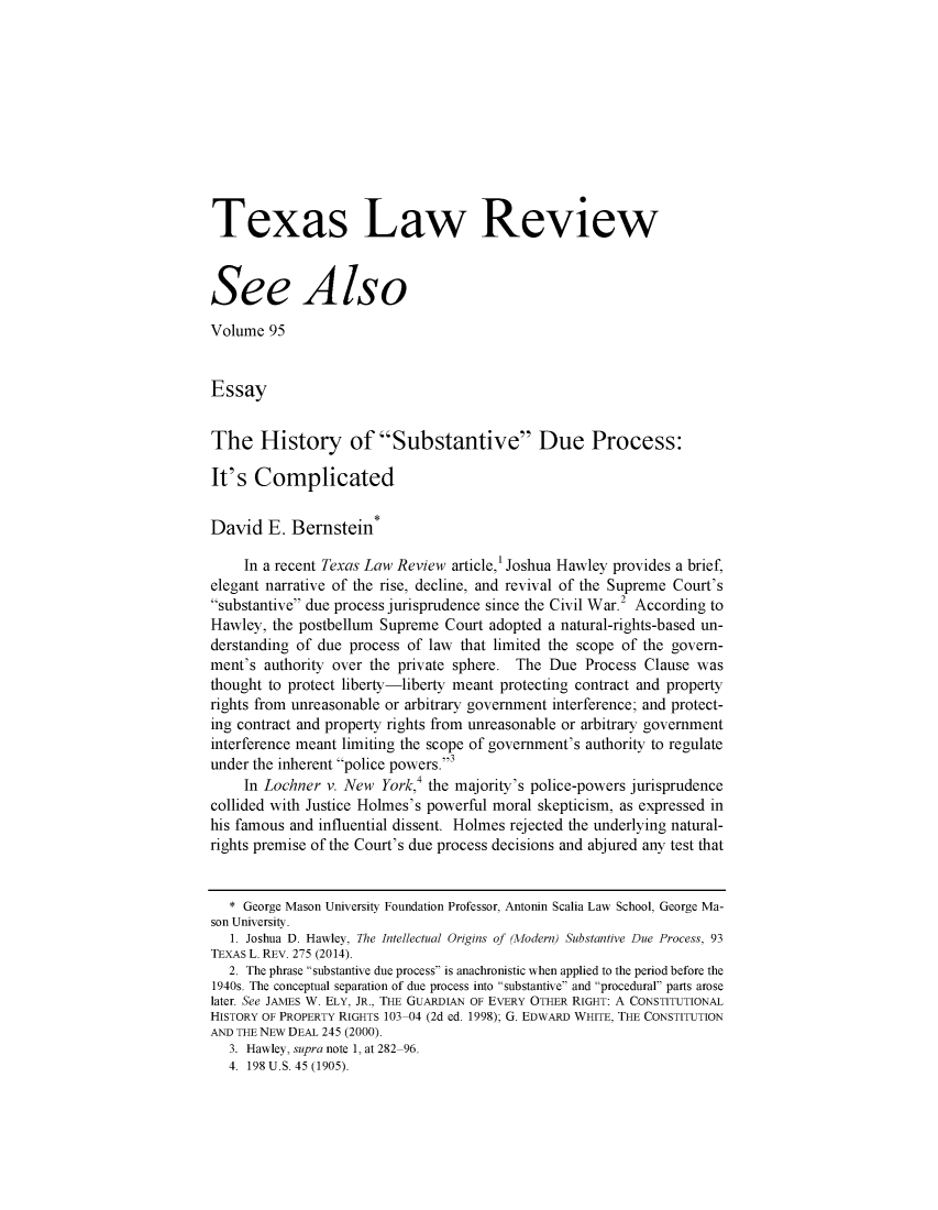 handle is hein.journals/seealtex95 and id is 1 raw text is: 