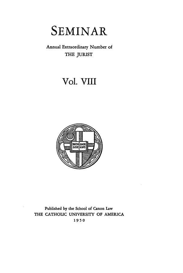 handle is hein.journals/semijus8 and id is 1 raw text is: SEMINAR
