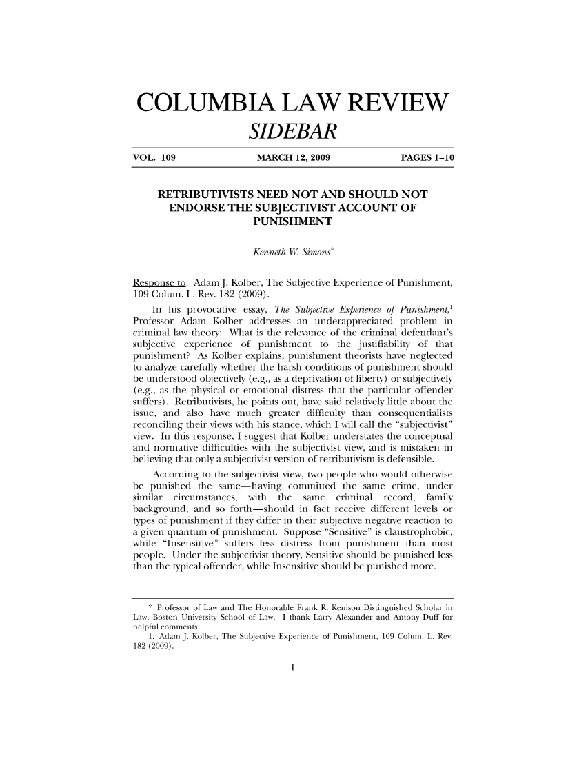 handle is hein.journals/sidbarc109 and id is 1 raw text is: COLUMBIA LAW REVIEW