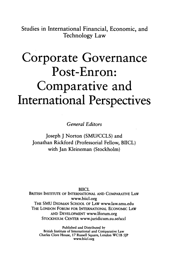 handle is hein.journals/sifet7 and id is 1 raw text is: Studies in International Financial, Economic, and